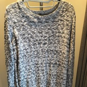 Express marled black and white sweater